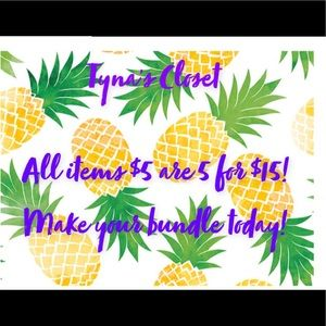 5 for $15 Sale 🍍🍍🍍